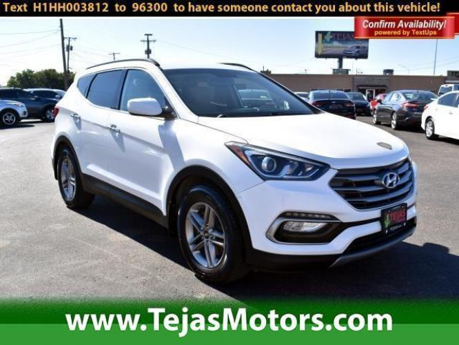 2017 Frost White Pearl /Beige Hyundai Santa Fe Sport 2.4L Automatic (5NMZU3LB0HH) , Automatic transmission, located at 4110 Avenue Q, Lubbock, 79412, (806) 687-6878, 33.556553, -101.855820 - Photo #0